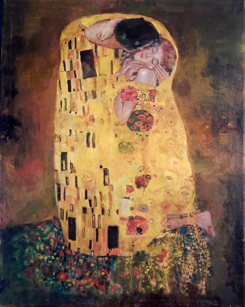 klimt kiss study by charles-hall