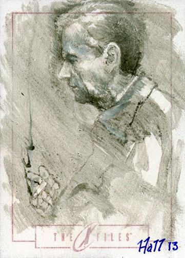 smoking man sketch card by charles-hall