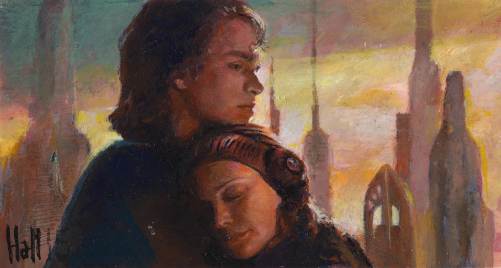 star wars revenge of the sith sketch card 31 by charles-hall