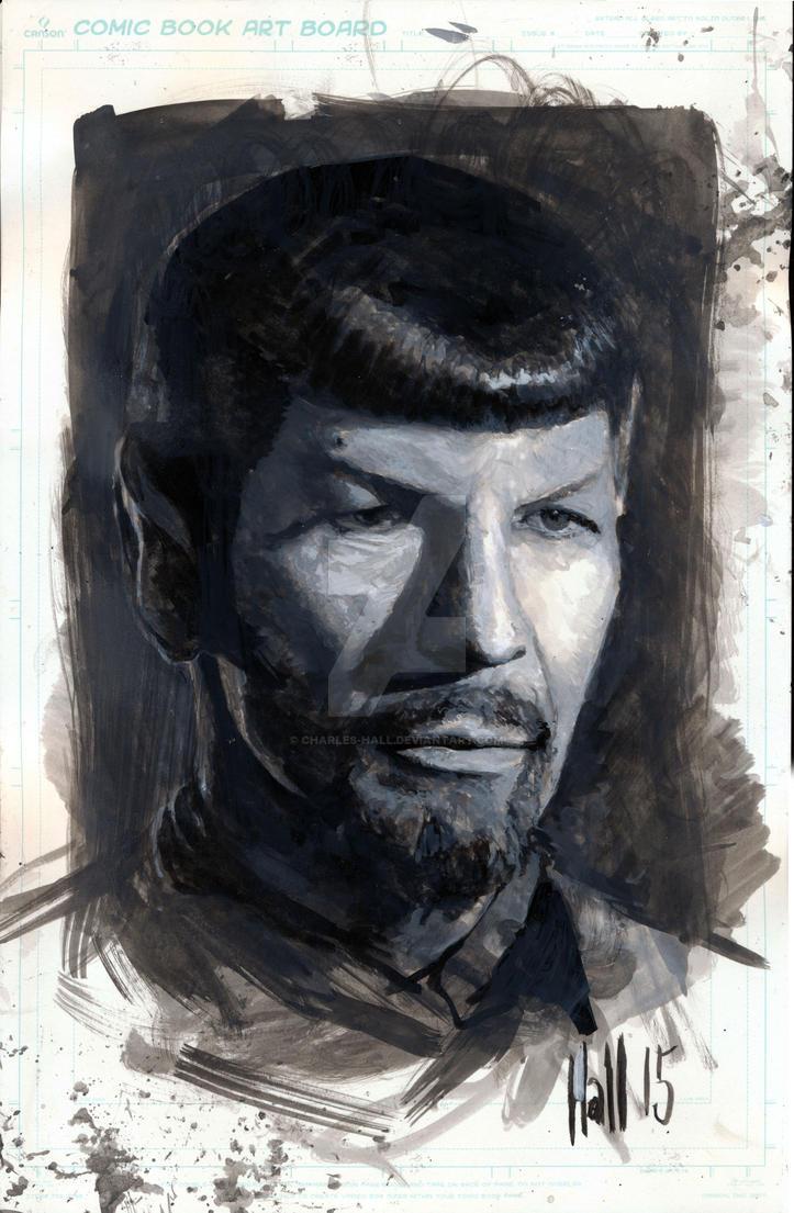 Spock sketch (no shave November) by charles-hall