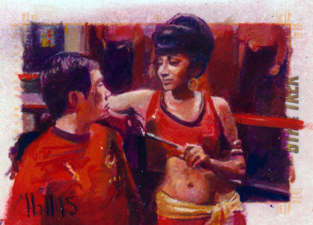 star trek 50th oil sketch 44 by charles-hall