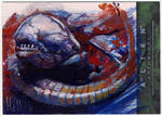 alien anthology oil sketch card 9