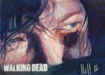 walking dead 2015 sketch card 24