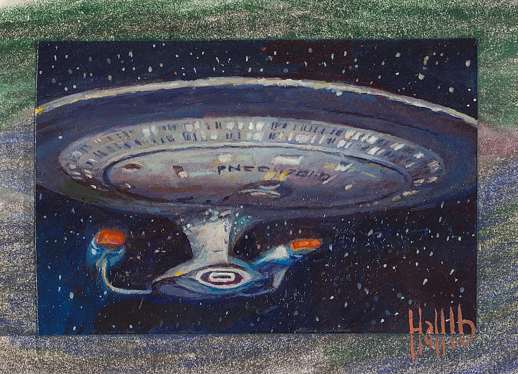 star trek tng 2 sketch card 10 by charles-hall