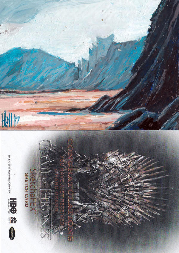 game of thrones sketch card 42 by charles-hall