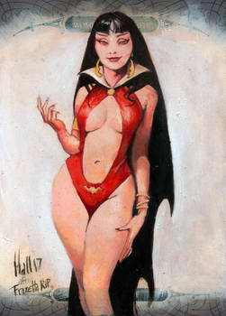 Vampirella after Frazetta