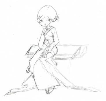 sketch of Korean dress by WOLFBANE1