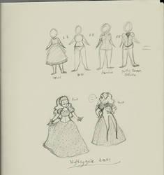 Nightengale Dress by WOLFBANE1