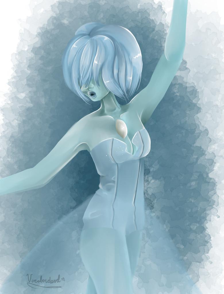 Blue pearl redo + Speedpaint by Vocaloidevil