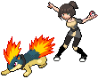 Declan and Bee sprites by tootflap