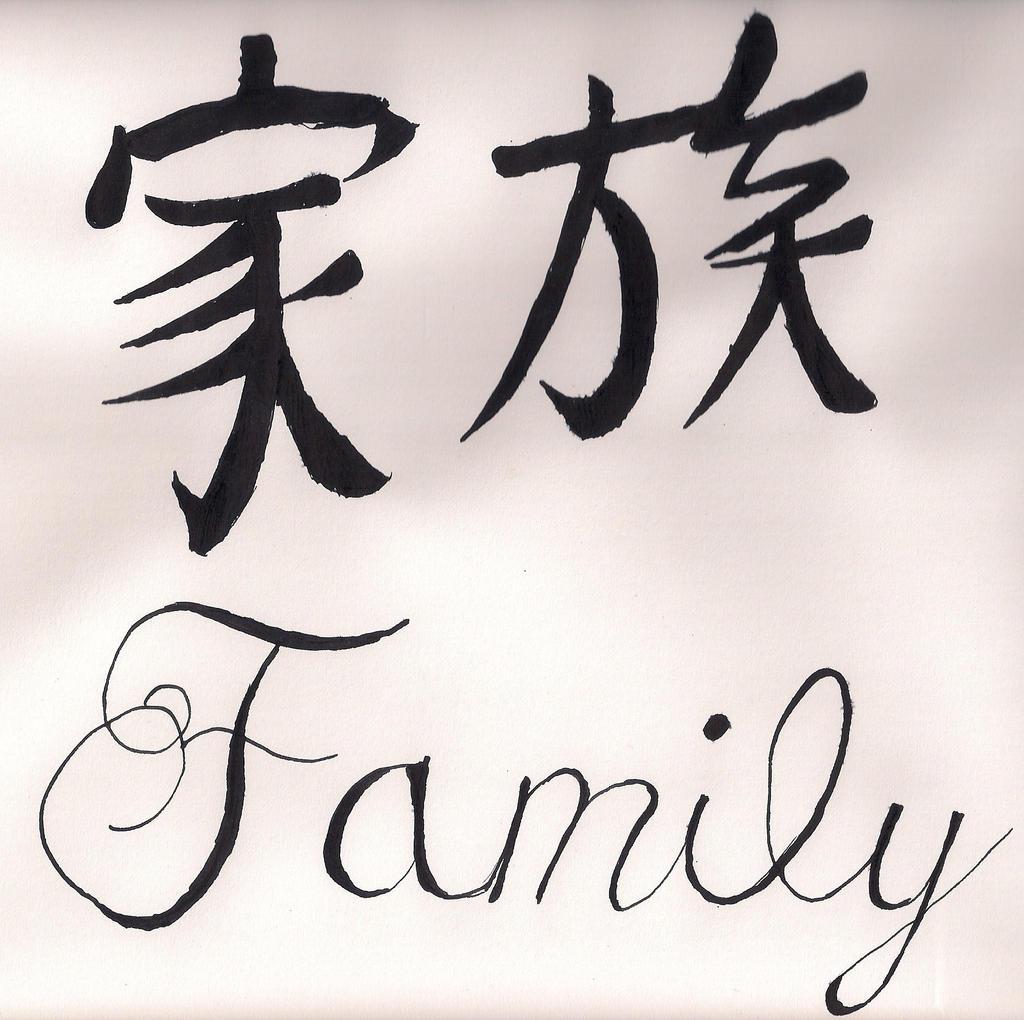 Family Kanji and cursive by RAMScrosswalker on DeviantArt