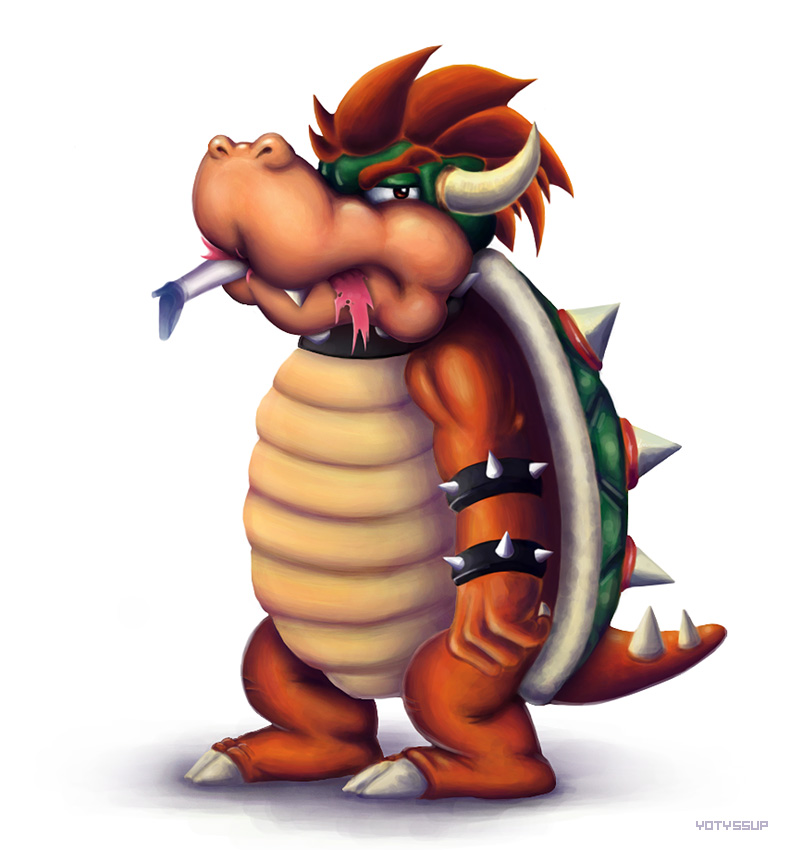 Bowser eats Peach by yotyssup on DeviantArt