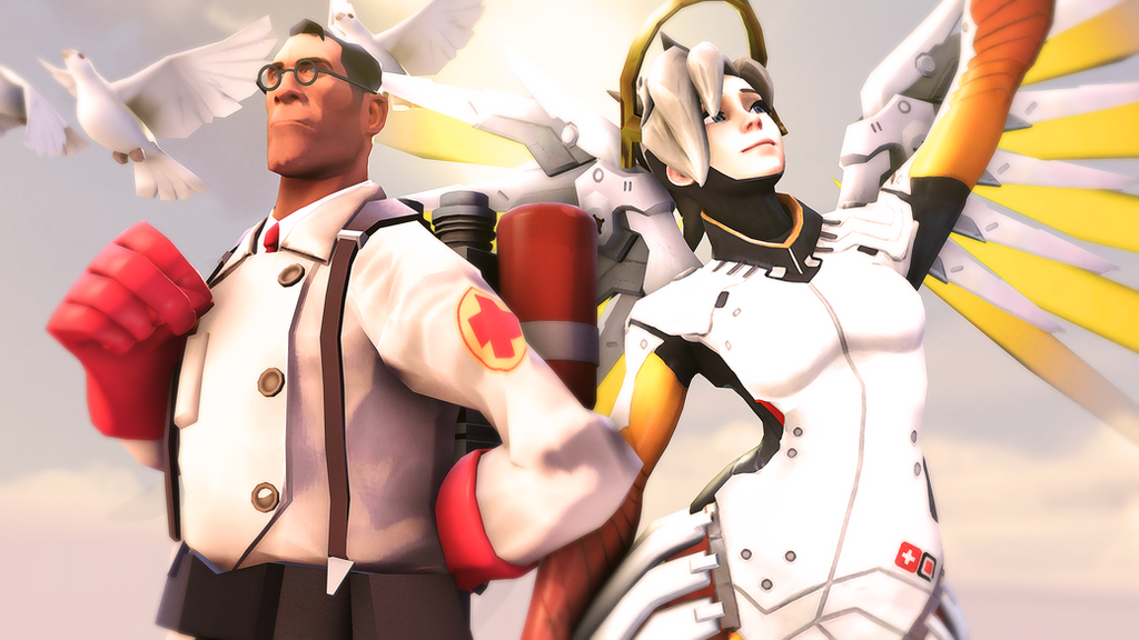 The Medic and Mercy by iKonakona