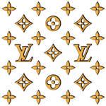 Gold 3D Louis Vuitton Logo Wallpaper