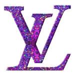 Glitter Louis Vuitton Logo