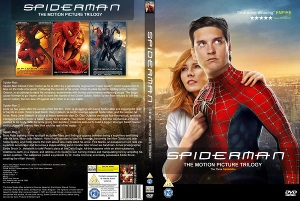 SpiderMan Trilogy DVD by archnophobia