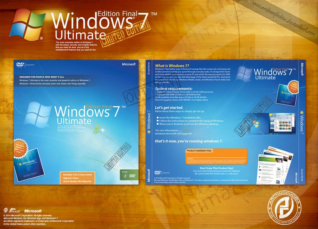 windows 7 cd case version by archnophobia on deviantart. Black Bedroom Furniture Sets. Home Design Ideas