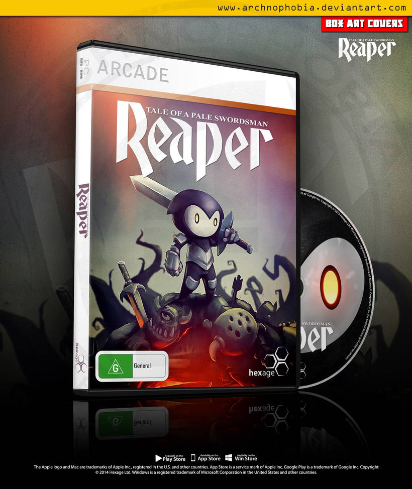 Reaper: Tale Of A Pale Swordsman Box Art Covers