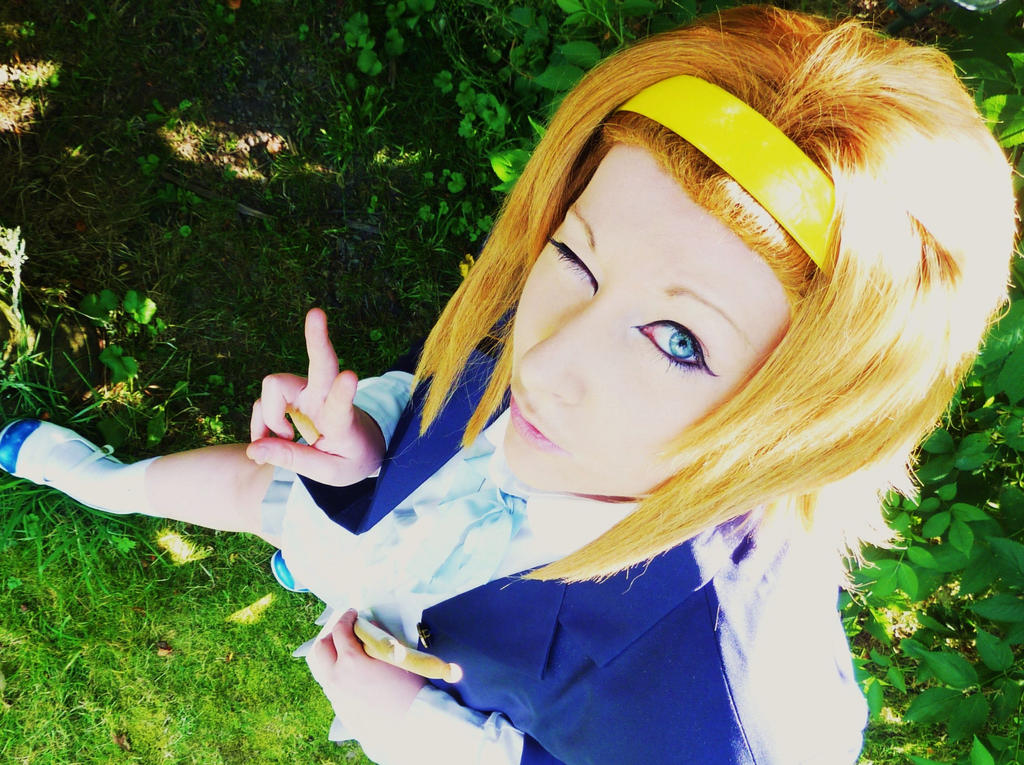 RITSU TAINAKA COSPLAY =3 by RizaHawkeyefma