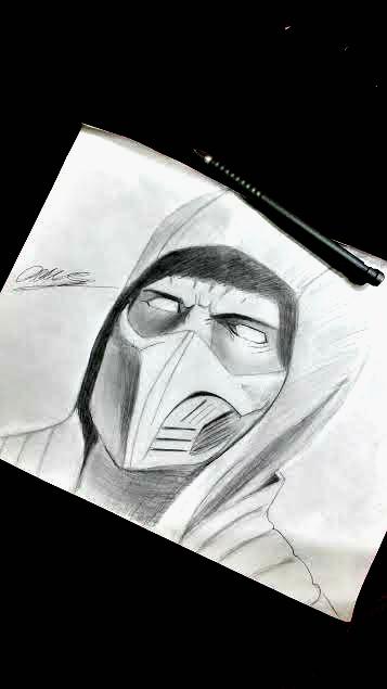 Scorpion Pencil Sketch Tutorial Replicated By Trueartstyles On