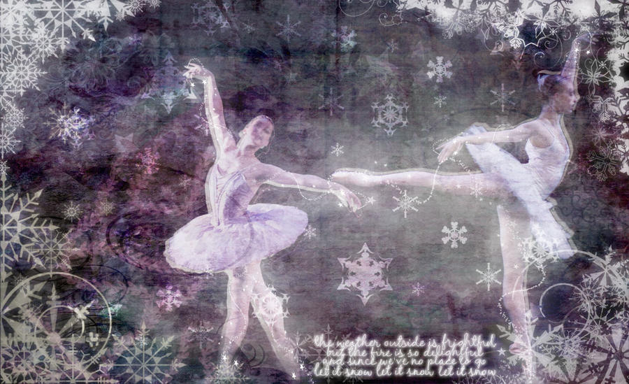 Ballerina Christmas Themed Desktop Wallpaper By O8PiXiiRaNt8o