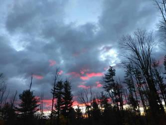 painting clouds pink  by DisturbedAngel017