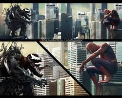 Venom and Spiderman by Lilaeroplane