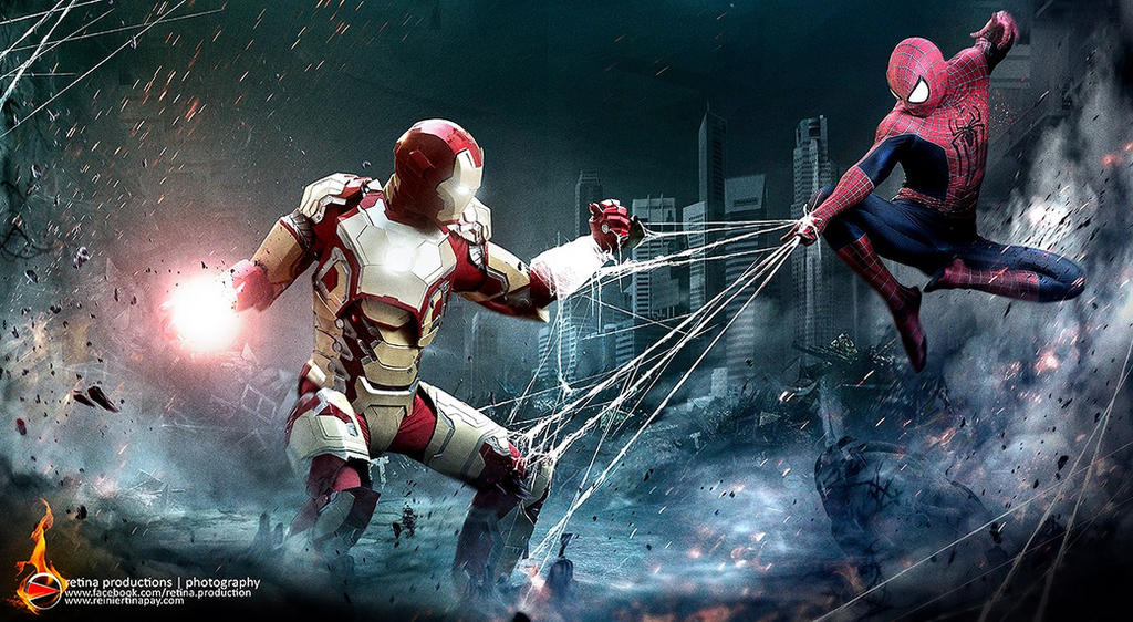 Spiderman vs Iron Man by Lilaeroplane on DeviantArt