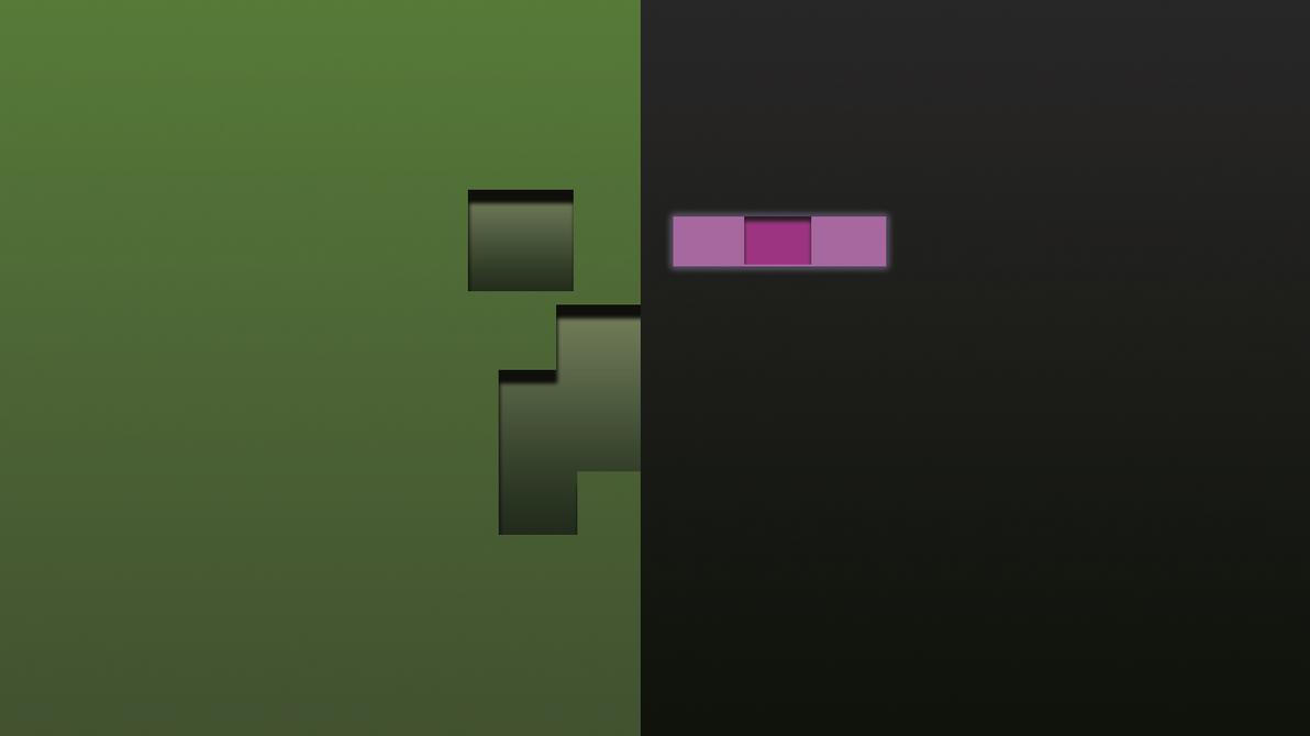 Fantastic Wallpaper Minecraft Enderman - creeper_enderman_background_by_chik0r0-d50nvl1  Collection_734850.png