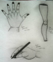 Hands and Leg Practice by LilArtist23