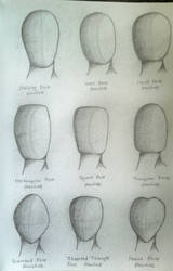 Face Shape Practices by LilArtist23
