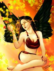 Falls Angel by LilArtist23