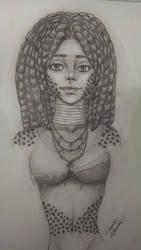 Leopard Tribal Woman by LilArtist23