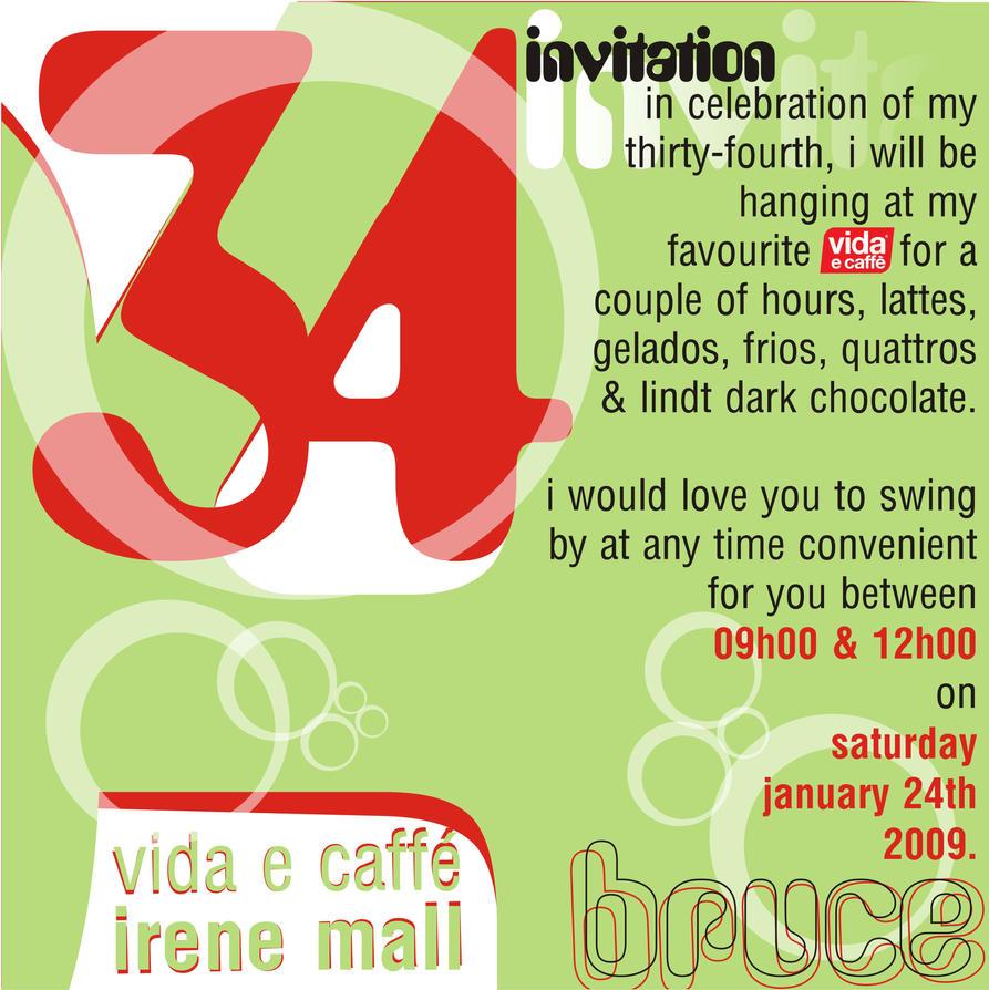 My 34th Birthday Invitation by brooskolin on DeviantArt