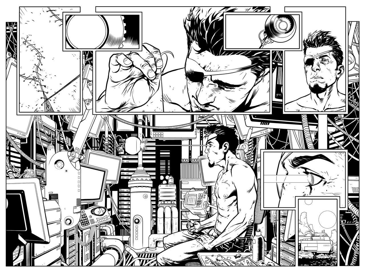 Aliens 2 pg2-3 - INKS by JeremiahLambertArt