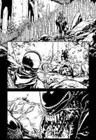 Aliens 2 pg 17 INKS by JeremiahLambertArt