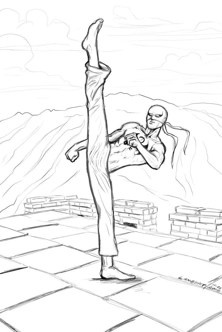 Sketch 11-03-2010 Iron Fist by JeremiahLambertArt