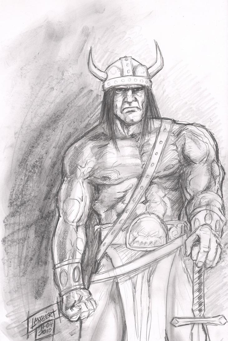 Sketch 11-04-2010 Conan by JeremiahLambertArt