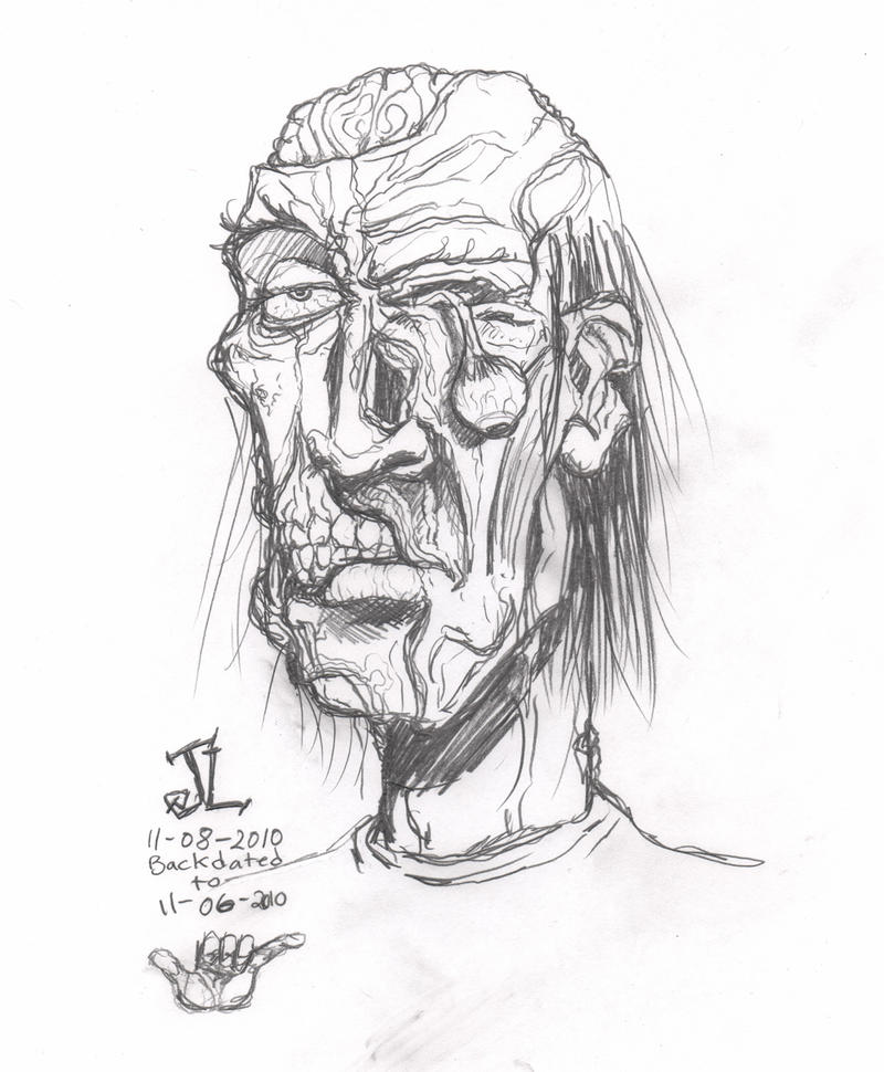 Sketch 11-06-2010 Zombie by JeremiahLambertArt
