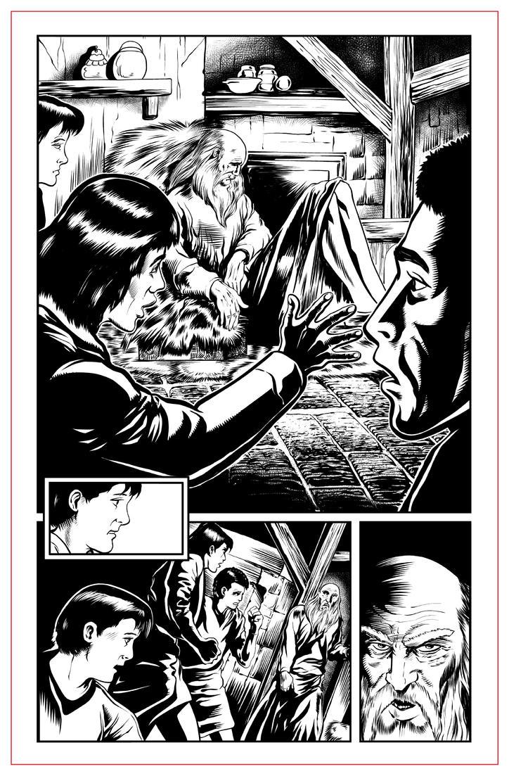 "Martyrs ""Polycarp"" pg 02 INKS by JeremiahLambertArt"