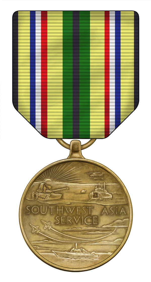 Southwest Asia Service Medal by JeremiahLambertArt