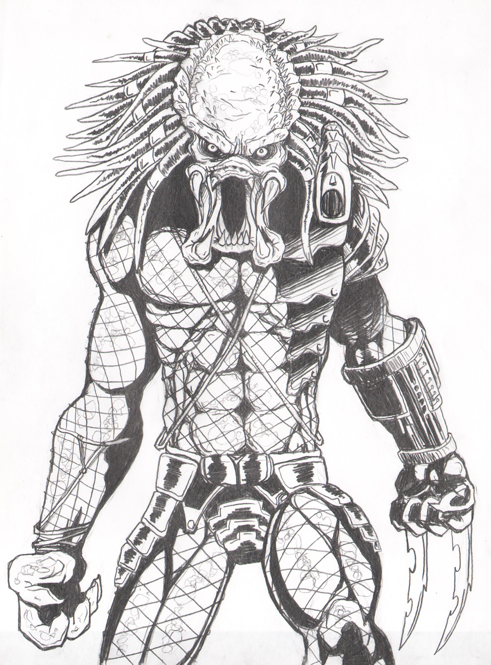 Predator pencil by JeremiahLambertArt