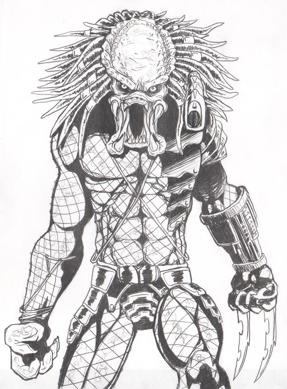 Predator pencil by JeremiahLambertArt