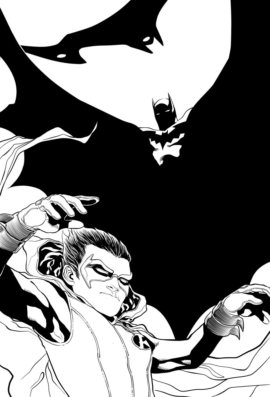 Batman and Robin INKS by JeremiahLambertArt