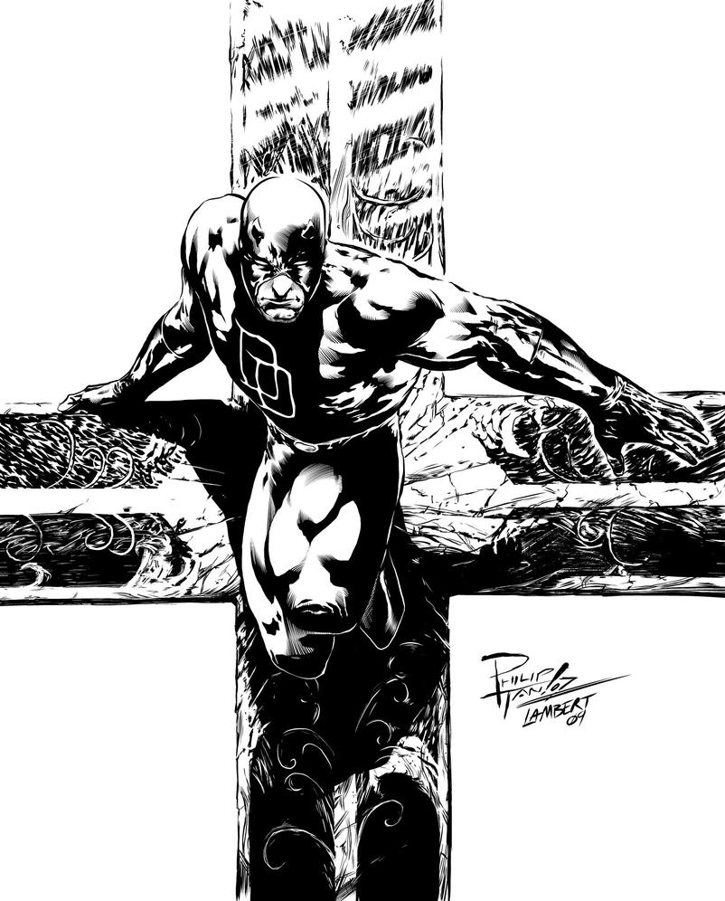 Daredevil by Philip Tan INKS by JeremiahLambertArt