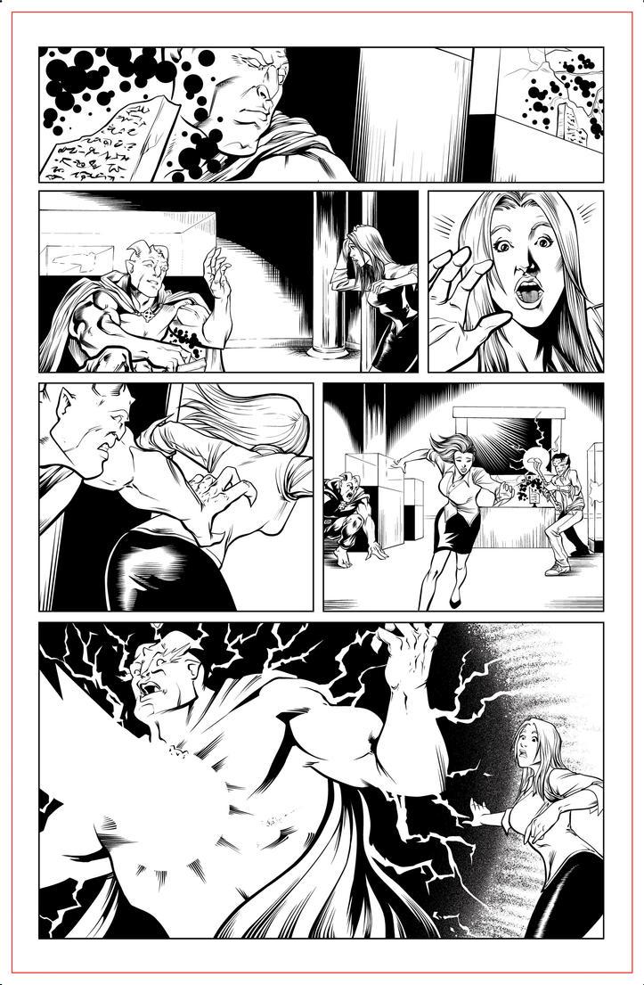 Gargoyle by Moonlight pg13 INK by JeremiahLambertArt