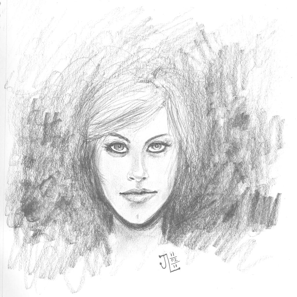 Pretty Face - NOV '11 Sketch a Day 2 by JeremiahLambertArt