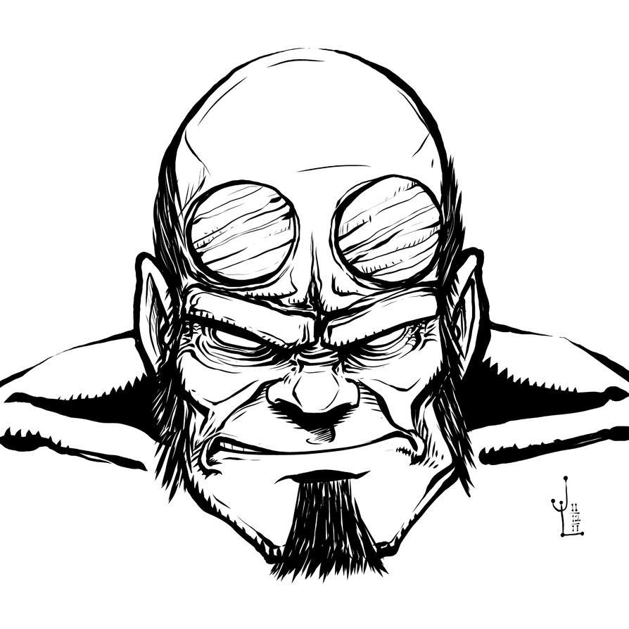 Grumpy Hellboy- NOV '11 Sketch a Day 12 by JeremiahLambertArt