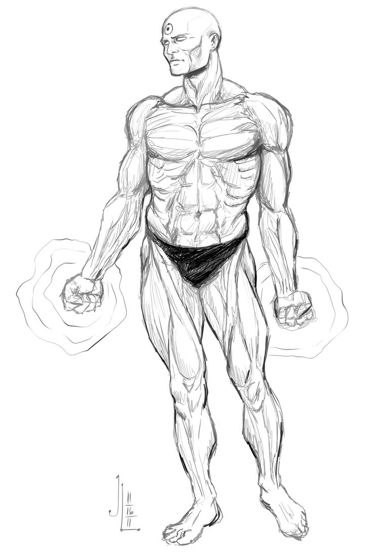 Dr. Manhattan - NOV '11 Sketch a Day 16 by JeremiahLambertArt