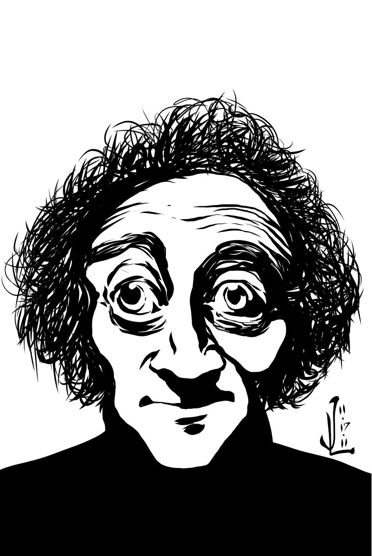 Marty Feldman - NOV '11 Sketch a Day 17 by JeremiahLambertArt